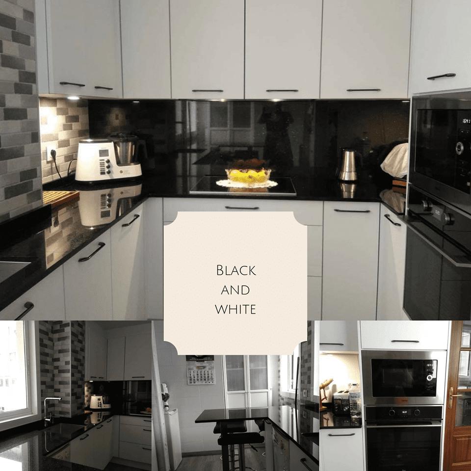 Cocina Black&White realizada para unos clientes