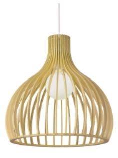 lámpara de rafia natural