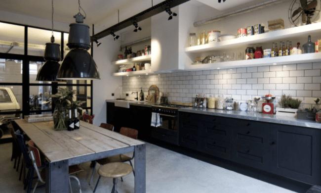 Cocina de estilo industrial para el blog de wabisabi