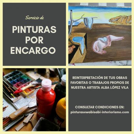 servicio de pinturas por encargo wabisabi
