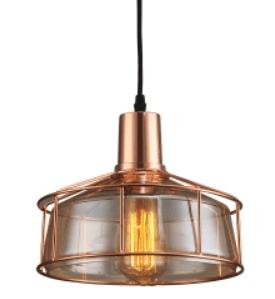 ejemplo de iluminaria de estilo industrial