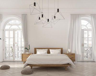 Dormitorio mid century modern acristalado y diáfano